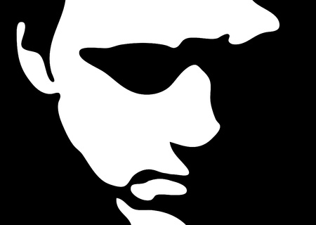 Silhouette of face, illustration illustration