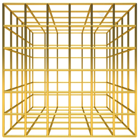incarcerate: Golden cage Stock Photo