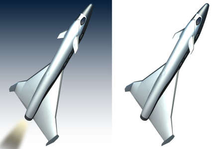Model of space tourist rocket  Stock Photo