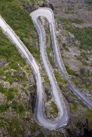 Serpentine hill road - upper view