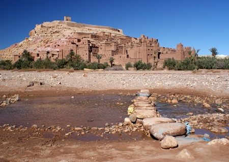 Ait Ben Haddou fortified village overview at Morocco