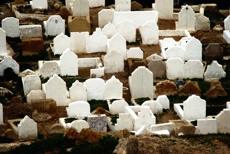 Muslim cemetery graves  Fes, Morocco