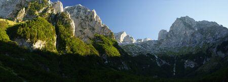 Prokletie mountain, Montenegro  Beautiful mountains landscape panorama  Stock Photo