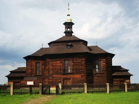 Old wooden church in the countryside