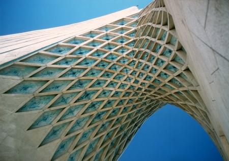 Architecture detail of a Azadi monument i Teheran, Iran Editorial