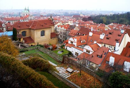 panoramatic: Historic roofs of Prague