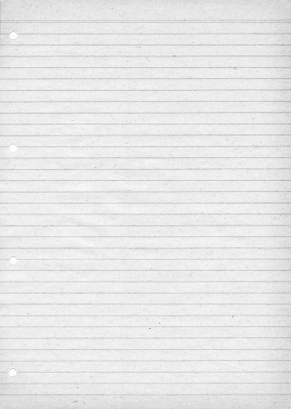 White lined paper for notes with visible paper pattern