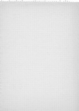 Checkered sheet background  White paper
