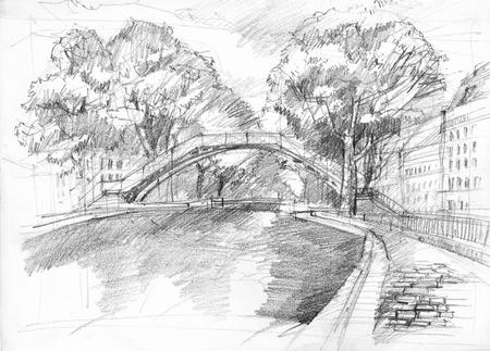 歴史的な橋堤防から分析観点ビューを持つパリのサン ・ マルタン運河