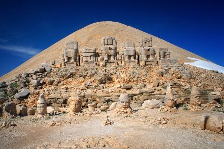 Historical place on Nemrut Dagi mountain, Turkey