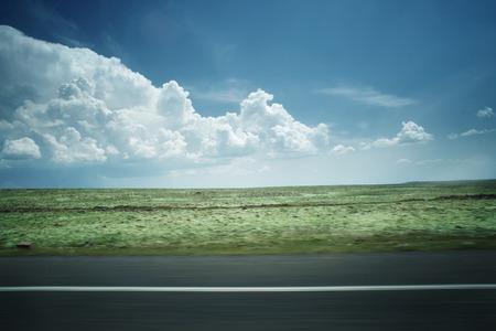 Clouds above the flat landscape