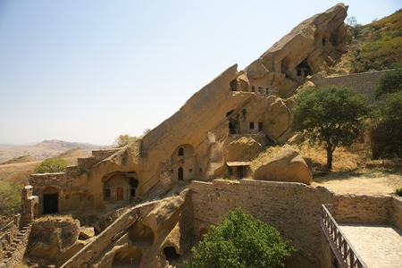 dweling: Davit Gareja cave monastery in Georgia