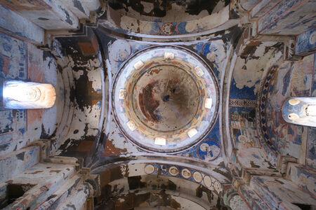 Central cupola in an old armenian church in Ani, Turkey