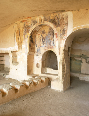 Interior of an old monastery named David Gareji in Georgia