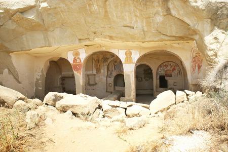 Historical caves of monks on Georgia Azerbaijan border