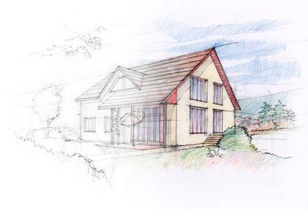house sale: House sketch design
