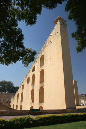 Sun clock tower Jantar Mantar in Jaipur, India