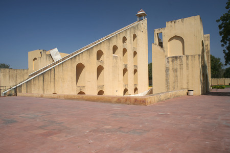 Old sun clock tower building in Rajhastan India