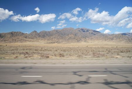 Snapshot of a dry landscape from the road
