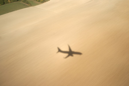 Shadow of a plane on a field