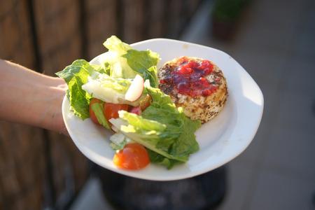チーズと野菜のグリル皿に健康食品