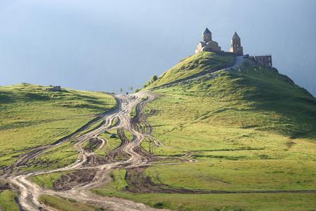 조지아 산맥의 정교회 스톡 콘텐츠