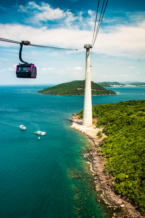 The Longest Cable Car situated on the Phu Quoc Island in South Vietnam.
