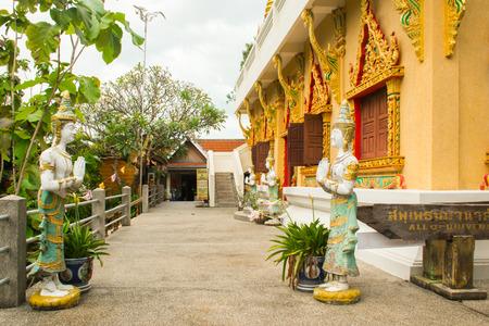 Golden pagoda of Wat Khao Hua Jook on the Koh Samui in Thailand