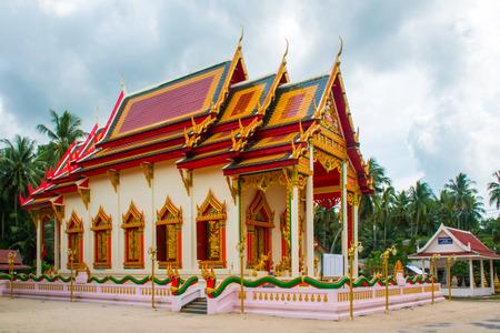 Mummified monk in Wat Kiri Wongkaram temple in the Koh Samui Island in Thailand