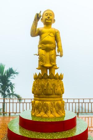 Small Buddha statue in the Pra Putta Teepangkorn Temple in the Koh Samui Island, Thailand