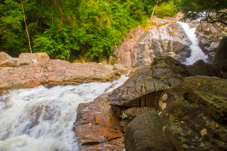 Hin Lat Waterfall in the Koh Samui Island in Thailand