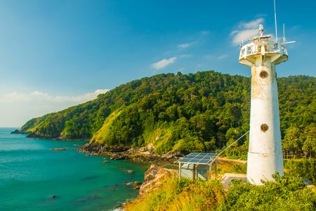 Lighthouse in national park Mu Koh Lanta in the Koh Lanta Island, Krabi, Thailand Stock Photo - 103258461