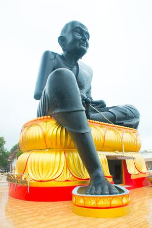 Temple of Black Monk in lake, Wat Bo Phut in Koh Samui, Thailand