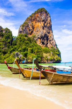 Belle plage de Railay paradis tropical à Krabi en Thaïlande