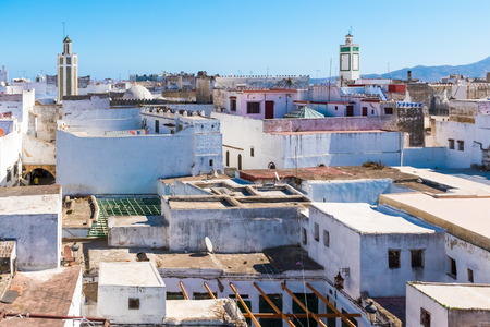 Beautiful view of white color medina o the Tetouan city, Morocco in Africa Banque d'images