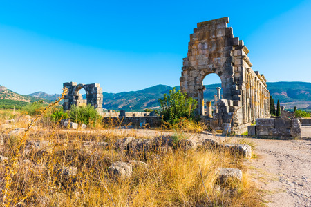 Roman Ancient city of Volubilis, Meknes Banco de Imagens