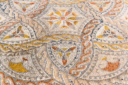Beautiful Ancient Mosaic in Roman ruins of Volubilis