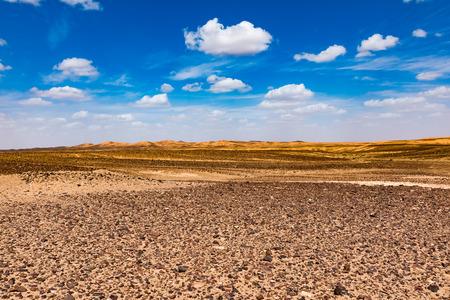 Black stoned desert in Merzouga Sahara near Erg Chebbi, Morocco in Africa 版權商用圖片