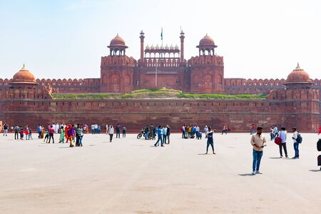 New Delhi, India, Mar 30 2019 - The Red Fort a UNESCO World heritage site that served as the residence of the Mughal emperor Reklamní fotografie - 127883519