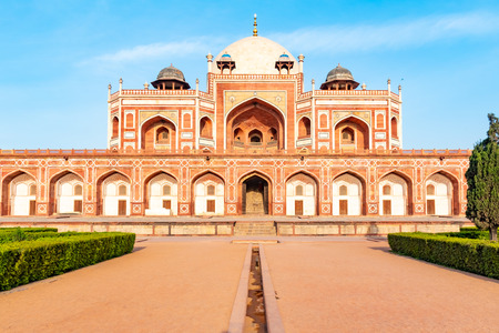 Delhi, India, 30 March 2019 - Humayuns tomb is the tomb of the Mughal Emperor Humayun in Delhi, India. The tomb was commissioned by Humayuns first wife and chief consort, Empress Bega Begum Reklamní fotografie