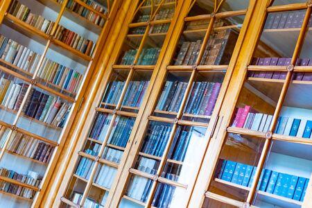 Castle Radun, Czech Republic, 7 April 2019 - The interior with beautiful old library, Radun Castle, located near Opava Reklamní fotografie - 127883603