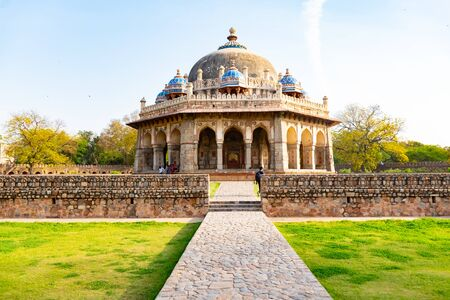 New Delhi, India, Mar 30 2018 - A Landscape view of Isa Khan Garden Tomb inside Humayuns tomb which is a World Heritage architecture, situated in Delhi, India Reklamní fotografie - 127883645