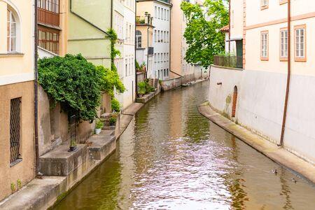 Certovka river in old town of Prague, Czech Republic