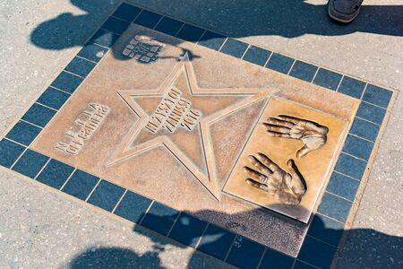 Krakow, Poland, 10 May 2019 - Walk of Fame, Avenue of Stars near Wawel Royal Castle in Krakow, Poland Redakční