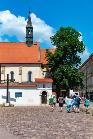 Krakow, Poland, 10 May 2019 - Church in the historic center of Krakow, Poland Redakční