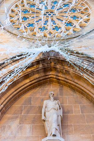 Spain Majorca, church Sant Jaume in the old town Alcudia, Balearic island Reklamní fotografie