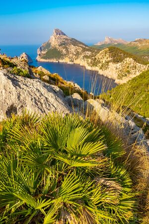 Mirador es Colomer - the main viewpoint at Cap de Formentor located on over 200 m high rock, Mallorca, Spain