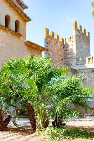 Alcudia City Wall Gate. City wall gate in the city of Alcudia, Mallorca, Spain
