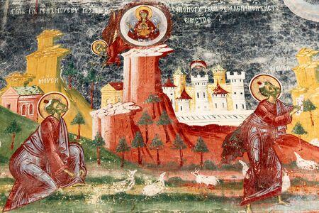 Magnifique scène estivale du monastère de Sucevita, une vue spectaculaire du matin sur l'église orthodoxe orientale, région de Bucovine, Roumanie, Europe