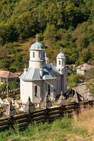Wooden Church St. Archangels Michael and Gabriel near Gersa, Rebrisoara, in Romania